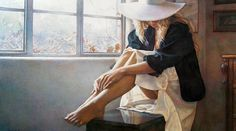 """The Felt Hat""  Steve Hanks (My friend Micheyle modeled for this)"