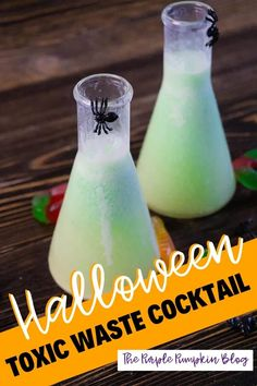Who says that Halloween cocktails have to be nothing more than a bowl of spiked punch? This Toxic Waste Cocktail is bubbling over with taste! This eerie concoction is made with white wine, lime juice, lime sherbet, and sweetened condensed milk. #ThePurplePumpkinBlog #HalloweenCocktails Halloween Party Drinks, Mad Scientist Party, Lime Sherbet, Cheap Halloween Decorations, Key Lime Juice, Purple Pumpkin, Lime Soda, Easy Cocktails, Great Appetizers