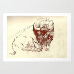 Buffalo Art Print by Smog - $15.00