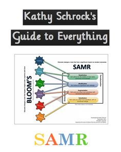 Resources for SAMR and the relationship between SAMR and Bloom's