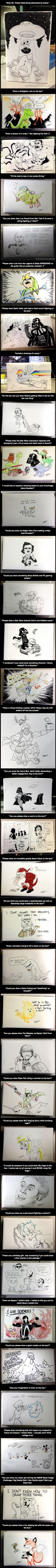 Drawings on boxes