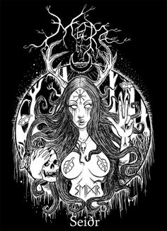 Mead Hall  Mara- Seiðr backpatch t-shirt design 561764c3d81
