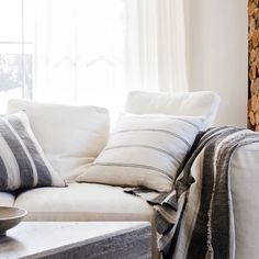 The Enzo Mira Linen Throw is a beautiful heavyweight linen throw finished with a fringe trim. With a gorgeous heavy drape and thick texture, this is a perfect addition to your bed or sofa. Cosy, Throw Pillows, Pure Products, Blanket, Bedroom, Collection, Cushions, Decorative Pillows, Bedrooms
