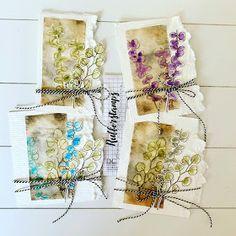 Tea Bag Art, Tea Art, Paper Art, Paper Crafts, Creative Textiles, Homemade Art, Sewing Art, Textile Artists, Mail Art