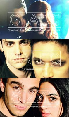 Shadowhunters #clace #sizzy #malec tumblr