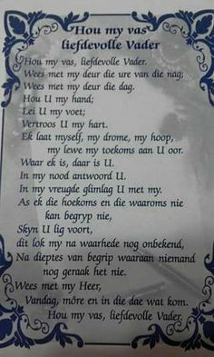 Prayer Verses, Bible Prayers, Bible Verses Quotes, Inspirational Quotes About Success, Quotes About God, Teach Me To Pray, Jesus Christ Quotes, Grieving Quotes, Afrikaanse Quotes