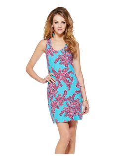 New Women Lilly Pulitzer Rhode Island Reef Shore Racerback Tank Dress Size L #LillyPulitzer #Shift #Casual