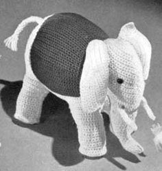 Toy Elephant   No. 606   Free Crochet Pattern, originally published by The American Thread Company, Book No. 6-E.