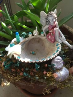 A personal favorite from my Etsy shop https://www.etsy.com/listing/270457226/miniature-fairy-bathtub-miniature