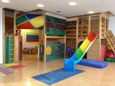 Indoor playground for basement