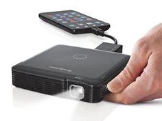 Pocket-Sized HDMI Pico Projector.     MOM.  I WANT.