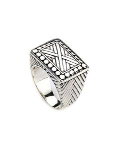 Samuel B. Imperial Silver X Ring .