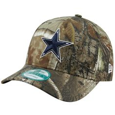 92be8887b Dallas Cowboys Realtree Camo The League New Era 9Forty Velcro Adjustable  Hat