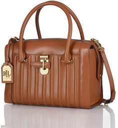 Lauren Ralph Lauren Willenhall Leather Satchel