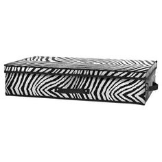 @Overstock - This charming under bed storage box highlights a beautiful zebra pattern in black and white. This functional storage box from Tango offers convenient handles, a date window for organization, and a collapsible design.http://www.overstock.com/Home-Garden/Tango-Zebra-Under-Bed-Storage-Box/7505095/product.html?CID=214117 $19.99