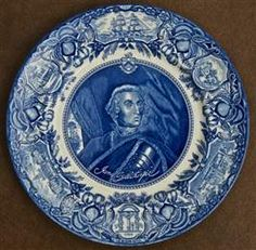 James Oglethorpe Blue Georgia Historical Plate.  The Georgia Plates are the Official State Plates of Georgia and are available at www.gqgifts.com
