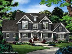 Farmhouse House Plan with 3102 Square Feet and 4 Bedrooms from Dream Home Source | House Plan Code DHSW078083