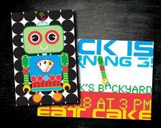 PRINTABLE Robot Birthday Invitation by InvitationToMars on Etsy, $16.00