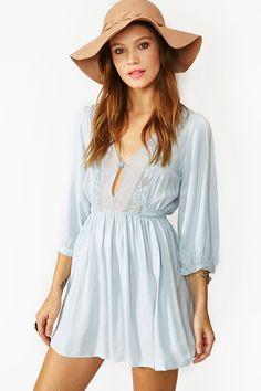 ✿ ßaby ∂oll   sky blue dress + camel hat