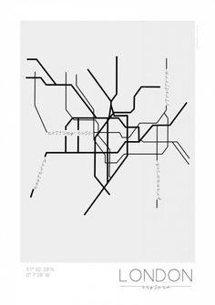 London map poster by Kreativum #map #london