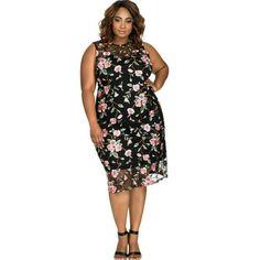 Cool Floral Print Midi Sun Dress