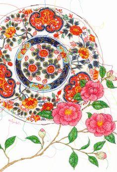 Member news items : 個展のお知らせ「Heroine~ヒロイン*花皿*」 | Miyuki Sakai | Tokyo Illustrators Society (TIS)