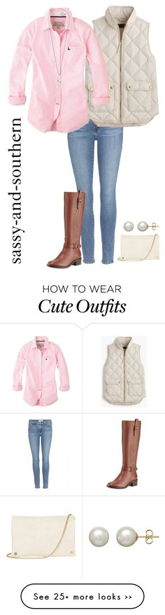 """cute fall outfit"" by sassy-and-southern on Polyvore featuring Frame Denim, J.Crew, Jack Wills, Cole Haan, Kendra Scott, Honora and Oasis by margret"