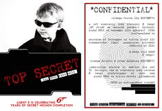secret agent spy party invite by kristy mapp (my awesome & talented cousin!)