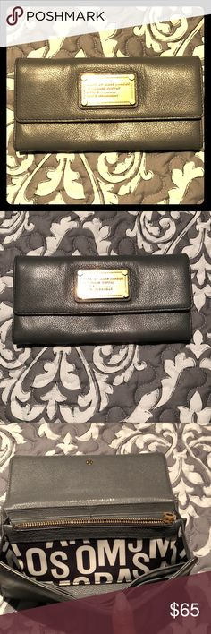 Marc by Marc Jacobs Wallet Grey leather continental wallet. Plenty of slots and space. Butter soft leather Marc By Marc Jacobs Bags Wallets