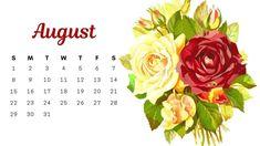 Floral August 2021 Calendar Wallpaper Calendar 2019 Printable, Excel Calendar, Calendar Layout, Cute Calendar, Desktop Calendar, Calendar Wallpaper, Printable Calendar Template, Kids Calendar, Calendar Design