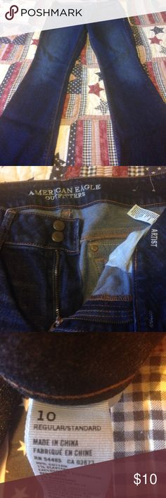 Size 10 American eagle jeans Size 10 American eagle jeans! Very good used condition! Thanks smoker American Eagle Outfitters Jeans Flare & Wide Leg