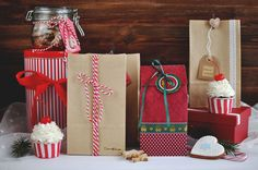 Inspiration for Wrapping Cookie Gifts (christmas, cupcakes, package)