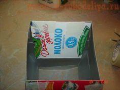 Мастер-класс: Ваза из пакетов от молока