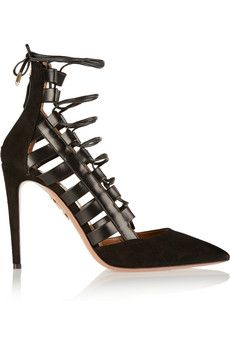 Valentino | Love Latch eyelet-embellished patent-leather pumps | NET-A-PORTER.COM