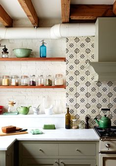 Tile for backsplash Kitchen Photos, Design, Ideas, Remodel, and Decor - Lonny