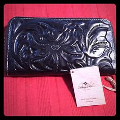 Patricia Nash black tooled Italian leather wallet. Beautiful new black leather wallet. Patricia Nash Bags Wallets