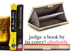 I love this idea... the perfect clutch for a book lover! It'd be fun to see which titles people pick.