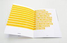2009: Type Specimen Portfolio by Sara Berks, via Behance