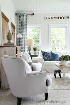 Savvy Southern Style: Late Summer Sun Room Changes