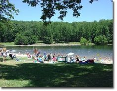 Cunningham Falls State Park, located in the Catoctin Mountains with campsites and camper cabins available for rental April-October, plus swimming, hiking to a 78-foot waterfall, fishing, and canoeing in Annapolis, MD