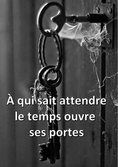Patience, To those who wait time opens Best Inspirational Quotes, Amazing Quotes, Best Quotes, Positive Attitude, Positive Thoughts, Positive Quotes, Door Quotes, Quote Citation, French Quotes