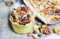 Crock Pot Honey Nut & Dark Chocolate Chex Mix
