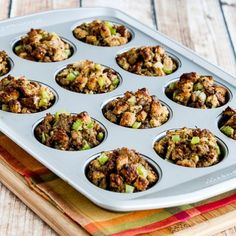 These 100% Whole Wheat Stuffing Muffins with Sausage and Parmesan are a Thanksgiving treat my family requests every year!