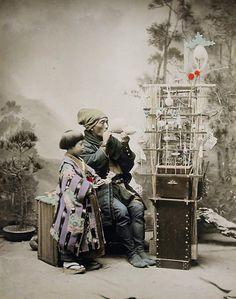 子供の情景. Candy maker and young customer. Old Japan / #MIZUworld