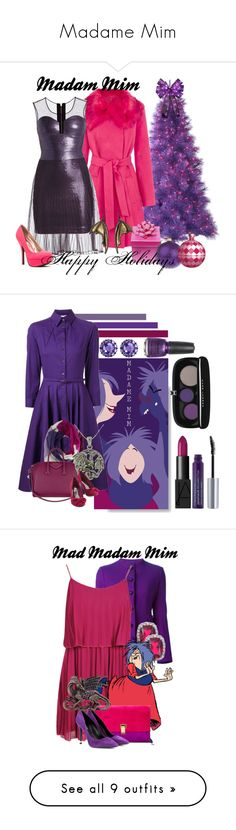"""""""Madame Mim"""" by leona-rex ❤ liked on Polyvore featuring Warehouse, BCBGMAXAZRIA, Qupid, Oscar de la Renta, Kate Spade, Givenchy, Carolina Glamour Collection, Color My Life, NARS Cosmetics and Urban Decay"""