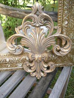 "...very nice vintage metal wall decor...beautiful ""feathery"" fleur de lis..."