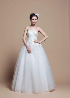 Princess A-Line Floor length Beach #Wedding#Dress