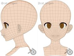 Modelado 3D anime 3d Model Character, Character Sheet, Character Modeling, Character Concept, Range Murata, 3d Design, Game Design, 3d Modellierung, Face Topology