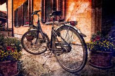 Vintage Bicycle Photograph - Swiss Bicycle by Debra and Dave Vanderlaan