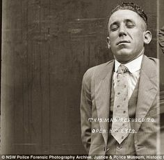Great historic collection of well-dressed Australian criminals http://www.dailymail.co.uk/news/article-2000227/They-dont-make-mugshots-like-anymore-Amazing-police-photos-1920s-criminals-arrested-Australia.html
